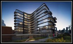 دانلود پاورپوینت اولین ساختمان مسکونی زاها حدید(نمونه مشابه مسکونی)